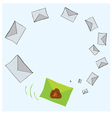 rare message is different from other vector image vector image