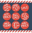 Sale labels and stickers with hand written text vector image