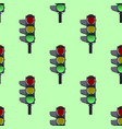 seamless pattern of green traffic lights on green vector image vector image