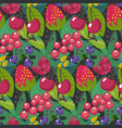 seamless pattern with different brries and vector image