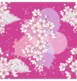 seamless pattern with sakura hand drawn spring vector image