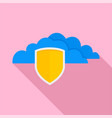 secured cloud data icon flat style vector image