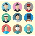 Set of Circle Icons with Man Different Professions vector image vector image