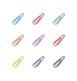 Set of multicolored paper clips vector image vector image