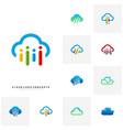 set of people cloud logo design concept modern vector image