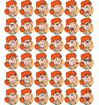 set of redhead businesswoman emojis vector image