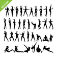 Sexy women and dancing silhouettes set 13 vector image vector image