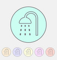 shower douche icon flat web sign symbol logo label vector image vector image
