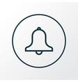 siren icon line symbol premium quality isolated vector image vector image