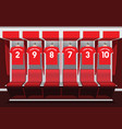 soccer dressing rooms team football red sport vector image vector image