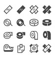 sticky tape icon set vector image