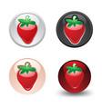 strawberry button set web 20 icons