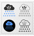 strong rain clouds eps icon with contour vector image vector image