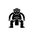 sumo black icon sign on isolated vector image vector image