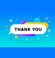 thank you banner speech bubble poster and vector image vector image