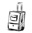 Travel bag on wheels Sketch vector image vector image