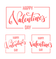Valentines day lettering for greeting card vector image
