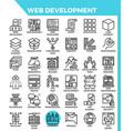 web development icons vector image vector image