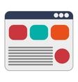 webpage with diagram icon vector image