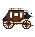 western stage coach vector image