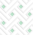 White 3D with colors green squares vector image