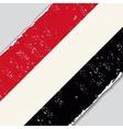 Yemeni grunge flag vector image vector image