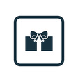 gift icon Rounded squares button vector image