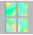 Abstract blurred backgrounds set Brochure flyer vector image