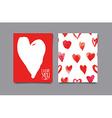 Postcard heart Seamless pattern vector image