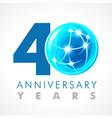 40 anniversary connecting logo