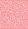 a pink romantic seamless pattern with hearts vector image