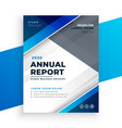 abstract blue modern business annual report design vector image vector image