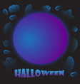 background halloween with cute ghosts vector image vector image