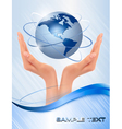 background with hands vector image vector image