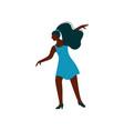 beautiful african american girl dancing wearing vector image vector image