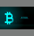 bitcoin technology background in glowing blue vector image