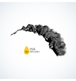 Black 3D ink or oil splash isolated on white vector image