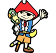 Boy in Pirate Costume 1 vector image vector image