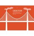 Bridge Minimalistic Banner vector image vector image