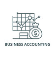 business accounting line icon business vector image vector image