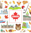 canada banner template with canadian national vector image vector image