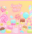 candy shop inviting banner vector image vector image