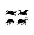 Cattle Silhouettes vector image vector image