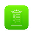checklist icon green vector image