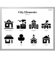 city elements solid pack vector image
