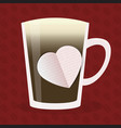 coffee love design vector image vector image