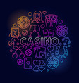 colorful casino round vector image vector image