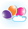 colorful paper balloons with copyspace vector image vector image