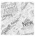 crystal earrings Word Cloud Concept vector image vector image