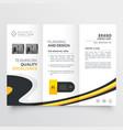 elegant bright trifold brochure design template vector image vector image